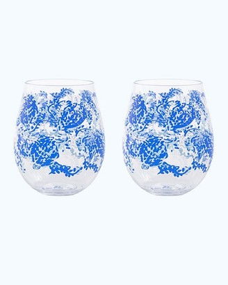 Lilly Pulitzer Acrylic Wine Glass Set