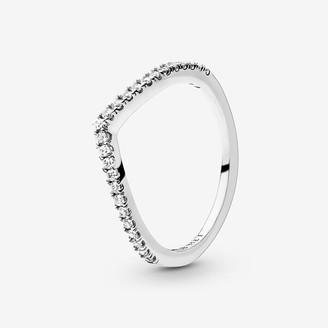 Pandora Sparkling Wishbone Ring