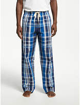 John Lewis Shaka Cotton Check Pyjama Bottoms, Navy/Blue
