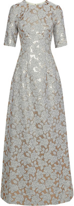 Lela Rose Holly Brocade Gown
