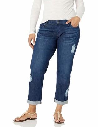 James Jeans Women's Plus Size Neo Beau Classic Boyfriend Jean
