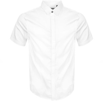 Armani Exchange Slim Fit Short Sleeved Shirt White