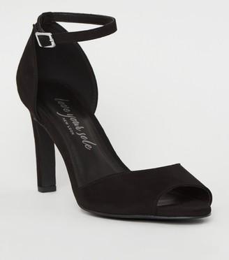 New Look Suedette 2 Part Peep Toe Heels