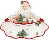Spode Christmas Tree Figural Gold Santa Figural Dish