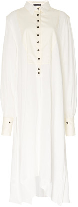 Ann Demeulemeester Oversized Cotton-Poplin Shirt Dress