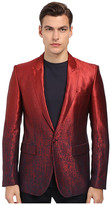 Just Cavalli Ombre Red To Blue 1B Peak Lapel
