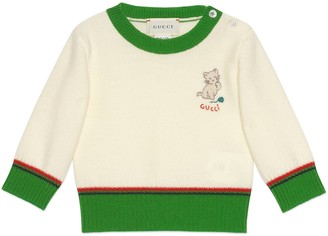 Gucci Baby wool sweater with kitten
