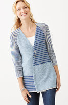 J. Jill Mixed-Stripes Textured Cardi