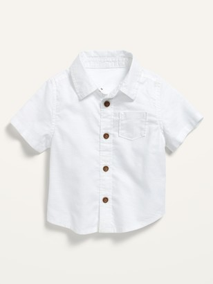 Old Navy Short-Sleeve Button-Front Pocket Shirt for Baby