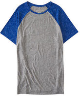 Aeropostale Mens Prince & Fox Colorblocked Raglan Tee Shirt Gray