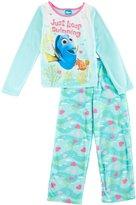 "Disney Finding Dory Little Girls' ""Heart Bubbles"" 2-Piece Pajamas"