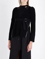 Sacai Buckle-detail wool jumper