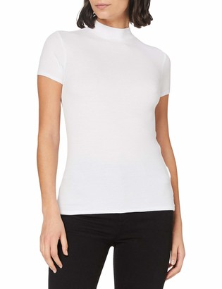 Meraki Women's Slim Fit High Neck T-Shirt