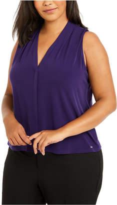 Calvin Klein Plus Size Sleeveless V-Neck Top