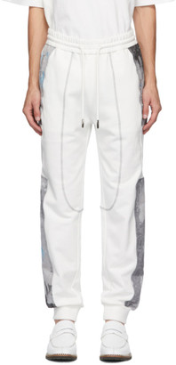 Feng Chen Wang White French Terry Lounge Pants