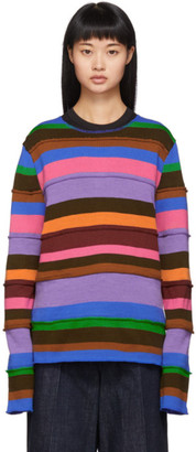 Comme des Garcons Multicolor Small Stripe Mix Sweater