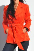 Sacha Drake Short Fitted Trench