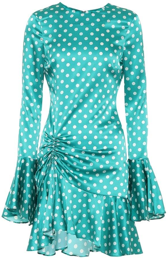 Caroline Constas Exclusive to Mytheresa Monique polka-dot stretch-silk dress