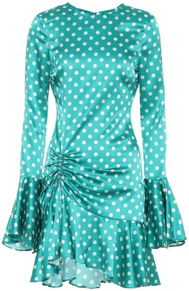 Caroline Constas Exclusive to Mytheresa Monique polka-dot stretch-silk dress
