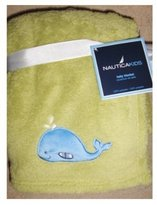 Nautica Baby Soft Plush Blanket Green with Whale Applique