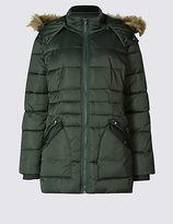 M&S Collection Satin Padded Jacket with StormwearTM