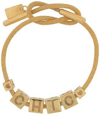 LAUREN RUBINSKI 14kt yellow gold Chic charm bracelet