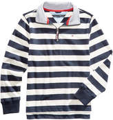 Tommy Hilfiger Striped Cotton Rugby Sweater, Little Boys