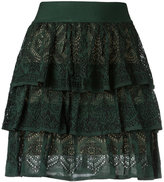 Cecilia Prado knit ruffled skirt - women - Acrylic/Viscose - P