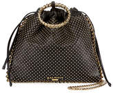 Balmain Leather Studded Bracelet Backpack