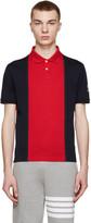 Moncler Gamme Bleu Navy & Red Colorblocked Polo