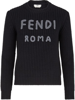 Fendi Knitted Logo Wool Jumper
