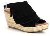 Minnetonka Ashley Fringe Wedge Espadrille Sandals