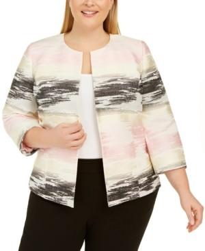 Kasper Plus Size Ombre Jacquard Jacket