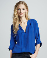 Joie Marru Silk Blouse, Bright Blue