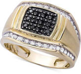 Macy's Men's Diamond Ring (1/2 ct. t.w.) in 10k Gold