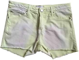 IRO Yellow Cotton Shorts