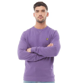 Lyle And Scott Vintage Mens Crew Neck Sweatshirt Violet