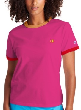 Champion Women's Campus Striped Ringer T-Shirt