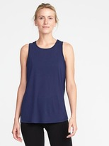 Old Navy Go-Dry Ultra-Light Cut-Out Twist-Back Tank for Women