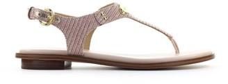 Michael Kors Plate Rose Gold Thong Sandal