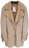 Anine Bing Beige Fur Coat for Women