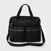 Mossimo Women's Metallic Quilted Weekender Bag Black