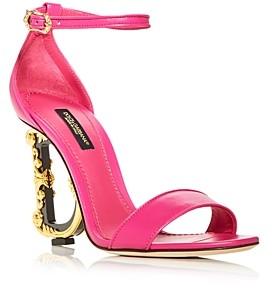 Dolce & Gabbana Women's Sculpted High Heel Sandals