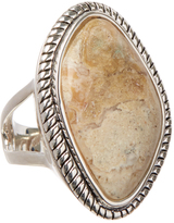 Barse African Opal & Silvertone Ring