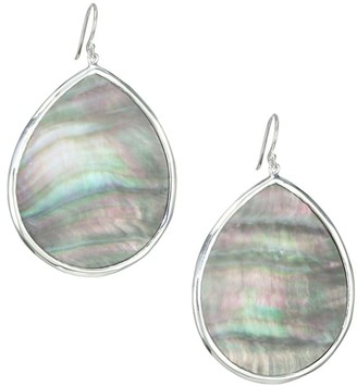 Ippolita Polished Rock Candy Large Sterling Silver & Black Shell Teardrop Earrings