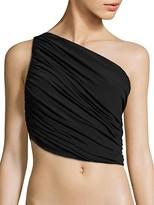 Thumbnail for your product : Norma Kamali Diana Shirred Bikini Top