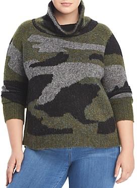 Aqua Curve Plus Size Knit Camo Turtleneck Sweater - 100% Exclusive