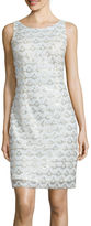 Studio 1 Sleeveless Sequin-Pattern Sheath Dress
