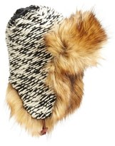 Free People Women's Wild Things Faux Fur Trapper Hat - Black