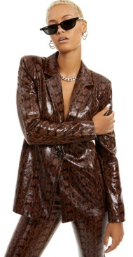 Danielle Bernstein Faux-Snakeskin Blazer, Created for Macy's